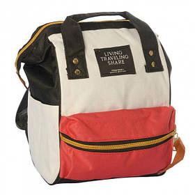 Сумка-рюкзак HLV MK 2877 Red/White