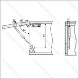 Газовый лифт Movimento LG-PRO UP 50 N серый металлик, поднятие вверх., фото 3
