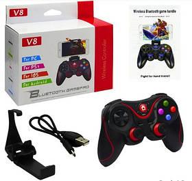 Беспроводной геймпад игровой джойстик для смартфона HLV Wireless Controller V8 Pro Black + USB кабель