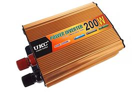 Перетворювач авто інвертор UKC 7063 12V-220V 200W