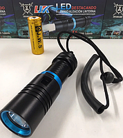 Подводный фонарь водонепроницаемый фонарик для дайвинга DIVING 808 T6-237 Black