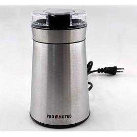 Электрическая кофемолка измельчитель Promotec PM-599 280W 70гр Coffee Grinder Steel