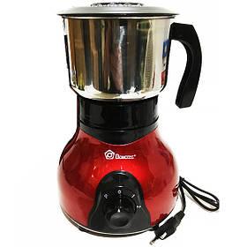 Кофемолка электрическая Domotec MS-1108 на 250г Red