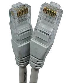 Патч-корд для інтернету HLV LAN 13525-8 5 м White