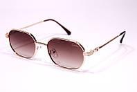 Жіночі сонцезахисні вузькі квадратні окуляри в леопардовій оправі (коричневі)