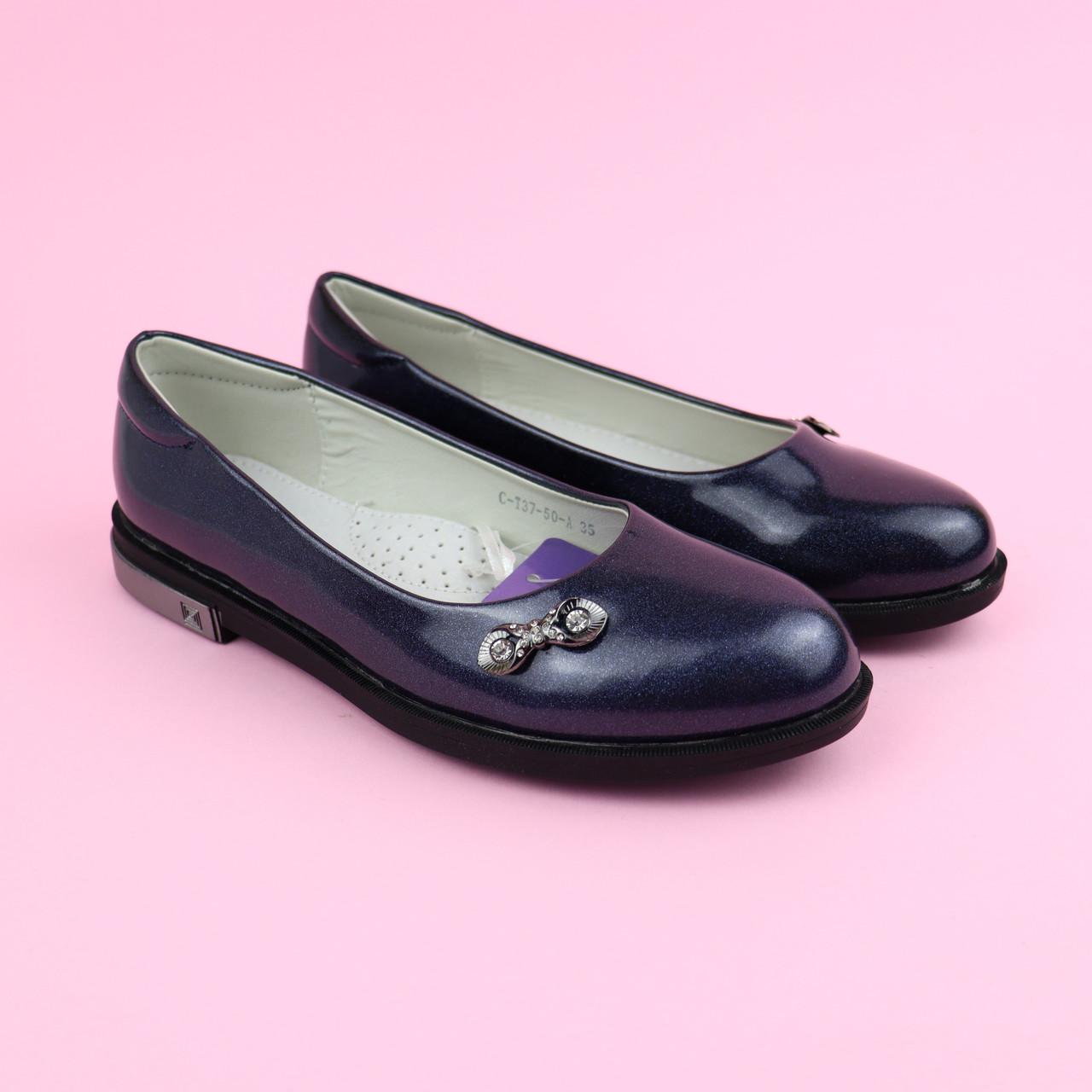 Туфлі в школу дівчинці Срібло Tom.m розмір 33,34,35,36