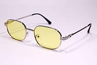 Женские солнцезащитные овальные очки Cartier 0087 C5 реплика Желтые