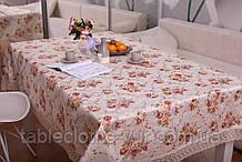Скатертина Святкова з Мереживом 110-150 3D «Beautiful» Прямокутна №8