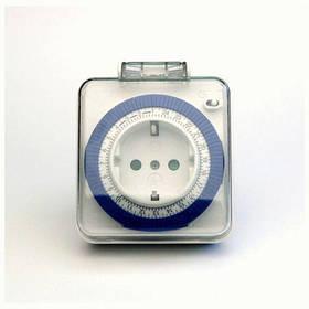 Розетка з таймером механічна добова Feron TM31 White/Blue