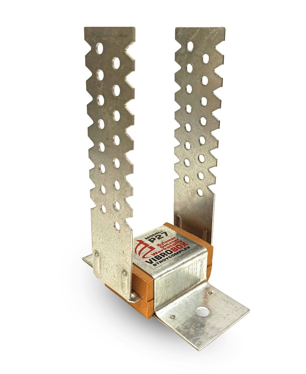 Стеновое звукоизоляционное крепление Vibrobox P-27