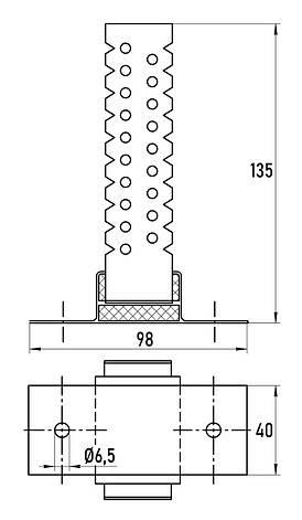 Стеновое звукоизоляционное крепление Vibrobox P-27, фото 2