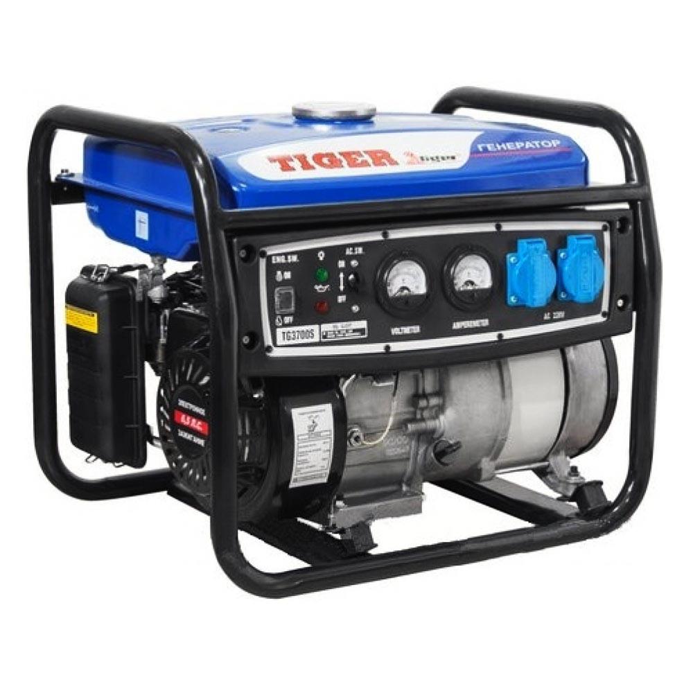 Бензиновый генератор с эл.стартером TIGER TG3700E (2.5-2.8кВт 100% медь)