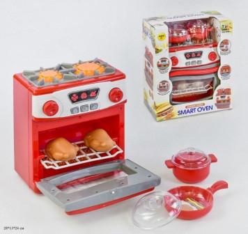 Набор бытовой техники детский Play Smart игрушечная печка духовка с посудой арт.1000