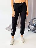 Супер стильные спортивные женские штанишки с накатом BEBI, разные цвета, р.42-44,46-48 Код 300Э, фото 2