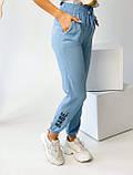 Супер стильные спортивные женские штанишки с накатом BEBI, разные цвета, р.42-44,46-48 Код 300Э, фото 6