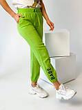 Супер стильные спортивные женские штанишки с накатом BEBI, разные цвета, р.42-44,46-48 Код 300Э, фото 5