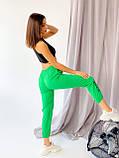 Супер стильные спортивные женские штанишки с накатом BEBI, разные цвета, р.42-44,46-48 Код 300Э, фото 7