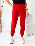 Супер стильные спортивные женские штанишки с накатом BEBI, разные цвета, р.42-44,46-48 Код 300Э, фото 8
