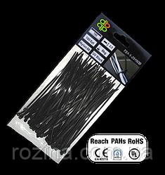 Стяжки кабельные, пластиковые, UV BLACK, 4,8*350 мм, TS1148350B