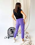 Супер стильные спортивные женские штанишки с накатом BEBI, разные цвета, р.42-44,46-48 Код 300Э, фото 10