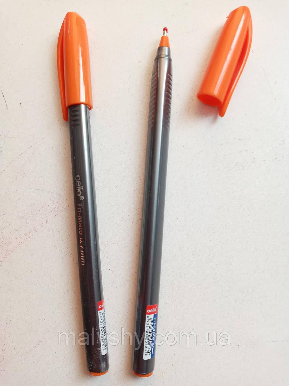 Ручка масляная «Tri-Mate» Cello оранжевая / шариковая / ручка масляна помаранчева  /CL-1779 В