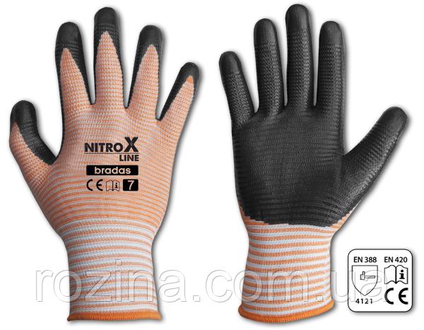 Рукавички захисні NITROX LINE нітрил, розмір 7, RWNL7