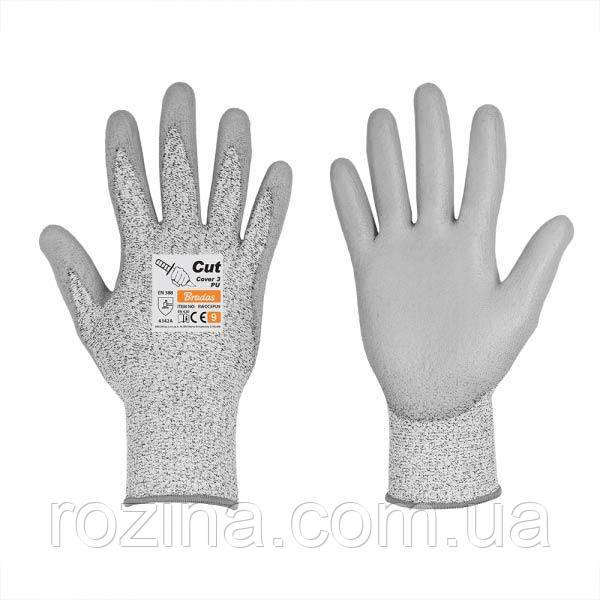 Рукавички з захистом від порізів, CUT COVER 3, поліуретан, розмір 7, RWCC3PU7