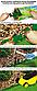 Бордюр газонний PALISGARDEN, 75м, набір-125 елементів / 60 см*38мм+300 кілочків GeoPEG, коричневий,, фото 2