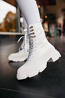 Женские ботинки Both x Lost General White / кожа / термо / белые