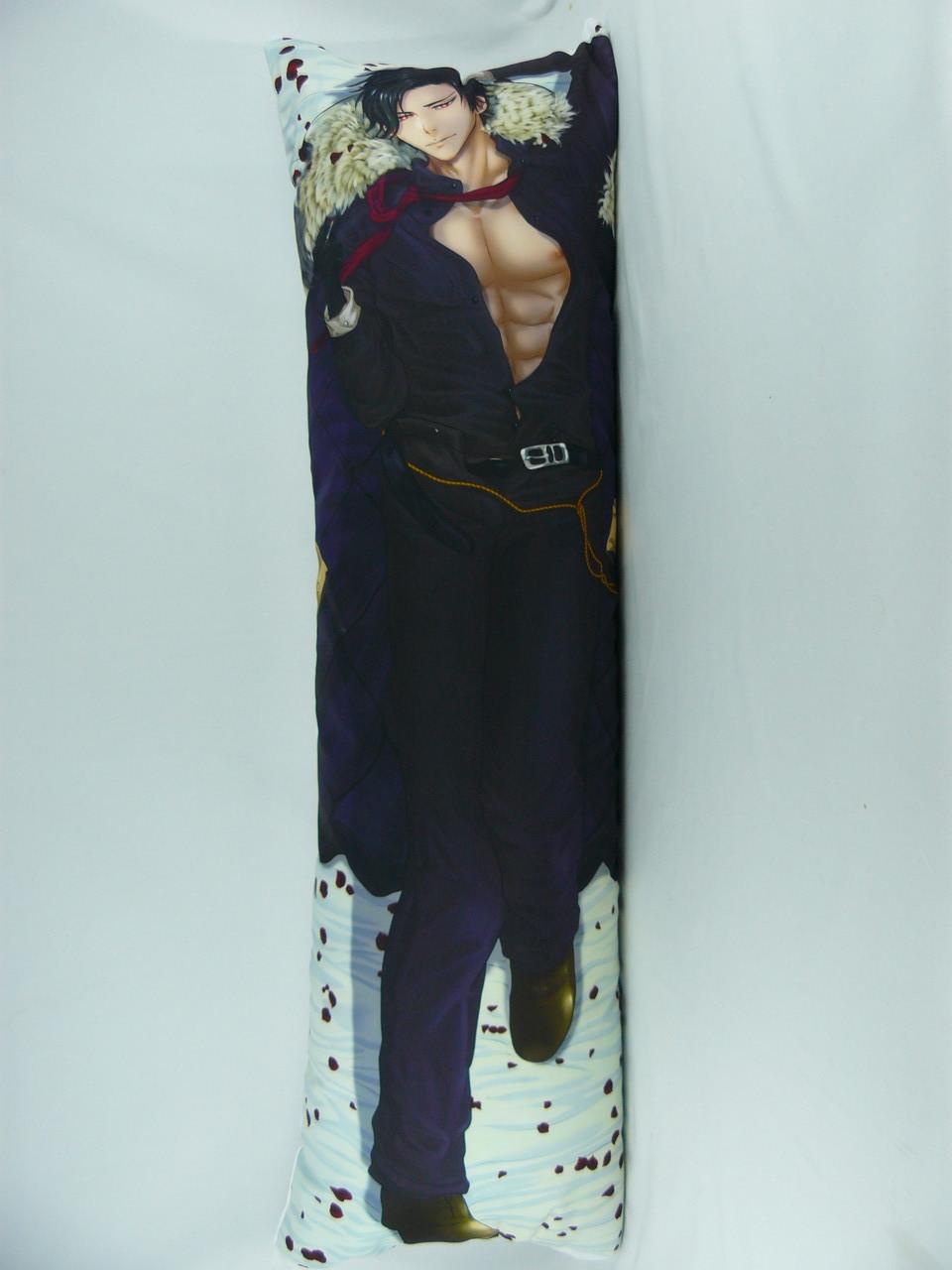 Подушка обнимашка Дакимакура  150 х 50 Люцифер для обнимания аниме со съёмной наволочкой односторонняя