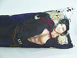 Подушка обнимашка Дакимакура  150 х 50 Люцифер для обнимания аниме со съёмной наволочкой односторонняя, фото 3
