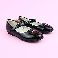 Чорні лаковані туфлі на дівчинку тм BIKI р. 27,28, фото 1