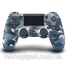 Джойстик геймпад пс 4 Sony PS 4 DualShock 4 Wireless Controller Blue Camouflage ( блакитний камуфляж ) репліка
