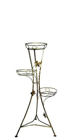 """Підставка кована для квітів """"Вежа"""" на 3 вазона, фото 2"""