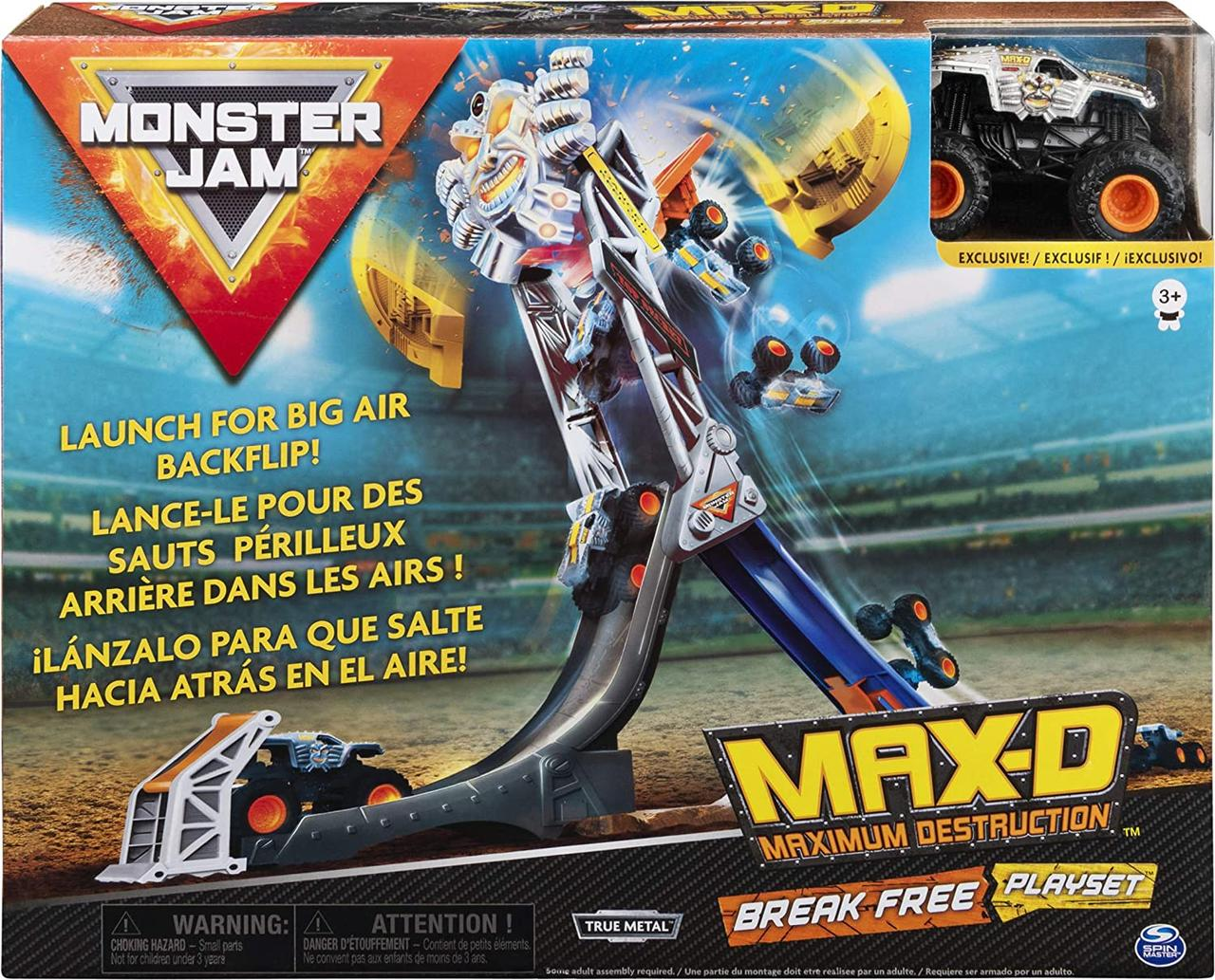 Большой набор Монстер трамплин Monster Jam, Official Max-D