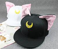 Оригинальная молодежная кепка с ушками для девушек. Элегантный образ. Стильный головной убор. Код: КД27, фото 1