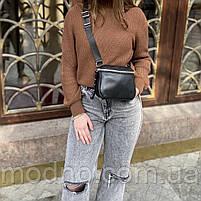 Жіноча шкіряна сумка через плече і на пояс Polina & Eiterou, фото 3
