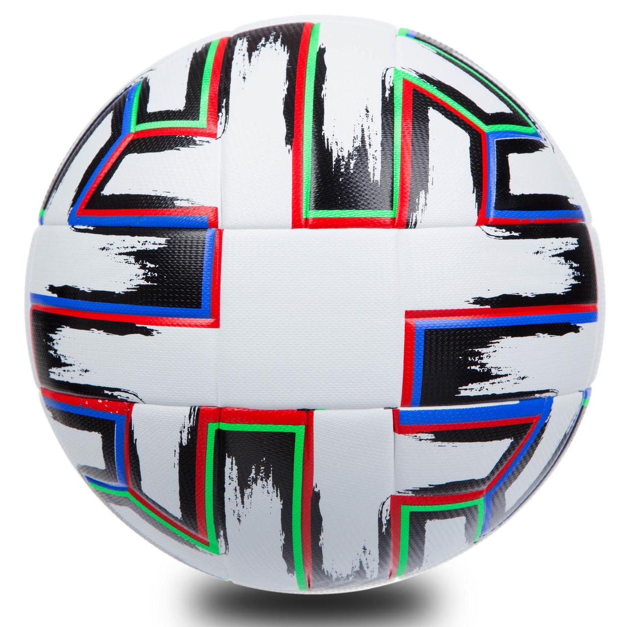 М'яч для футболу 5 розмір PU ламін. Клеєний EURO CUP 2020 FU1549