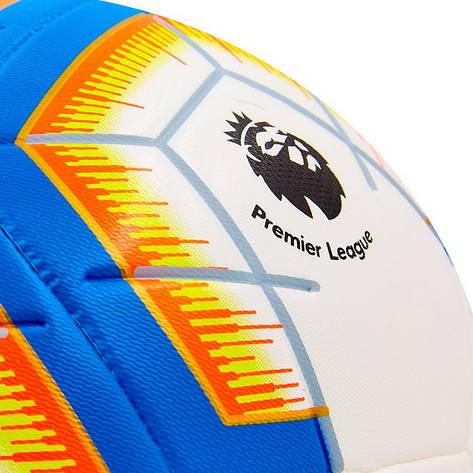 Мяч футбольный №5 PU PREMIER LEAGUE 2018-2019 FB-6882, Сине-оранжевый, фото 2
