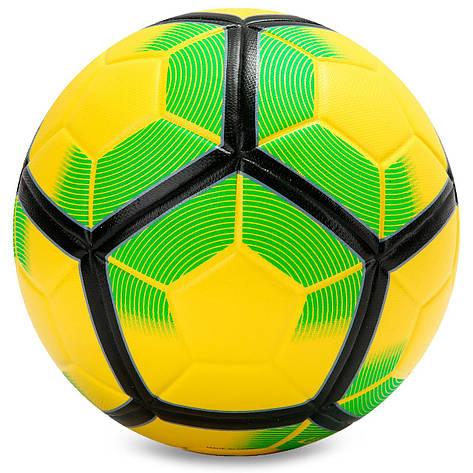М'яч футбольний №5 PU PREMIER LEAGUE FB-5927, Жовто-салатовий, фото 2