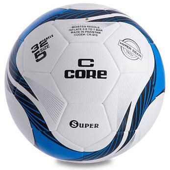М'яч для футболу розмір 5 PU HIBRED CORE SUPER CR-013, фото 2