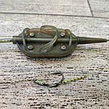 "Рыболовная кормушка в сборе , карповый монтаж ""Method Arc Flat"" , вес 50 грамм, фото 3"