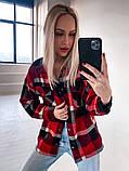 Женская куртка рубашка в клетку, фото 4