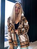 Женская куртка рубашка в клетку, фото 3