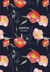 Скетчбук / блокнот для рисования MUSE SKETCH & NOTE А5, плотность 120 г/м2, 64 листа