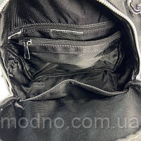 Жіночий шкіряний міський рюкзак з текстильним ремінцем на плече Polina & Eiterou, фото 8