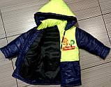 Демісезонна куртка дитяча Фиксики з отстегными рукавами, фото 2