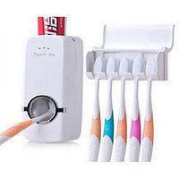Дозатор зубной пасты, Держатель для зубных щеток стерилизатор, Toothpaste Dispenser JX1000
