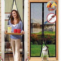 Москитная сетка на магнитах Magic Mesh, Антимоскитная штора на дверь, Сетка против москитов АМ 2