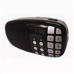 Компактный радиоприемник колонка Toly TO-203 с дисплеем, карманный приемник колонка MP3, USB, MP4 и SDcard
